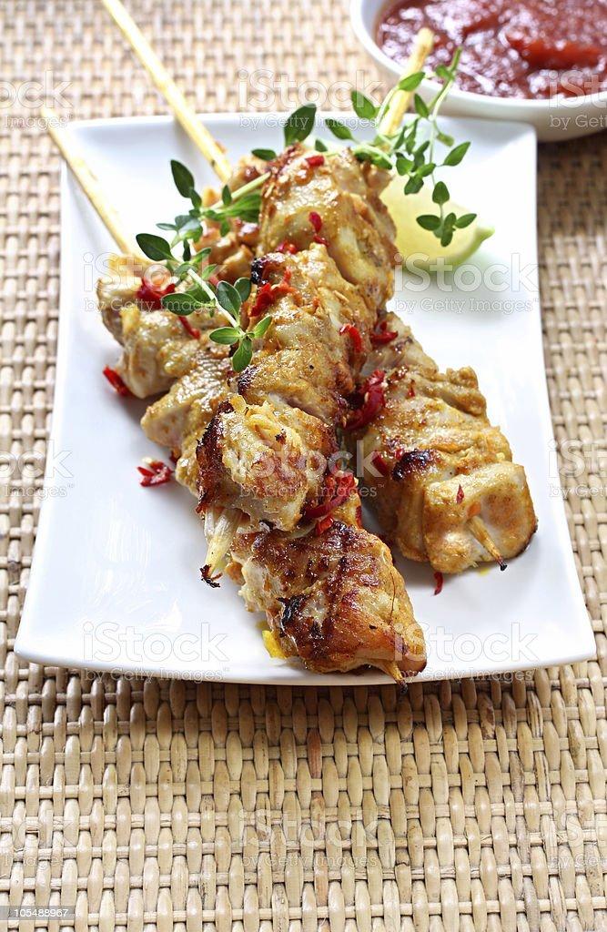 Chicken Skewers stock photo