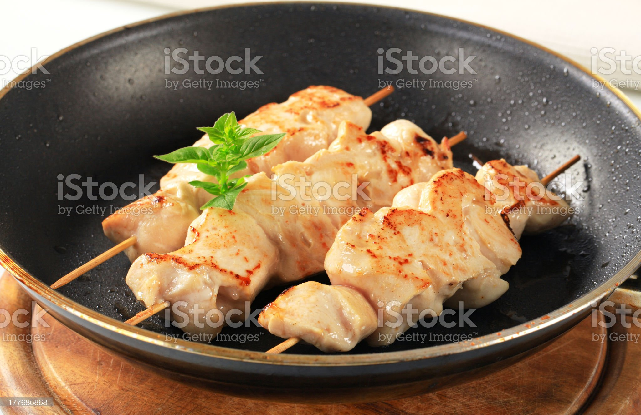 Chicken skewers royalty-free stock photo