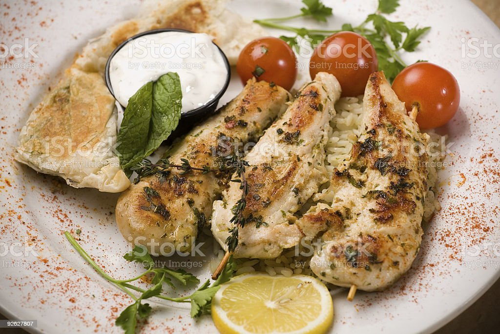 Chicken Skewers/Kabobs royalty-free stock photo