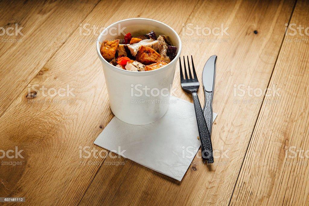 Chicken Snackpot stock photo