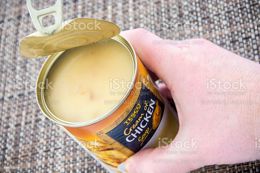 Chicken Soup Open stock photo