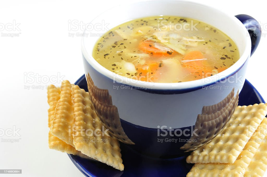 Chicken Soup. stock photo