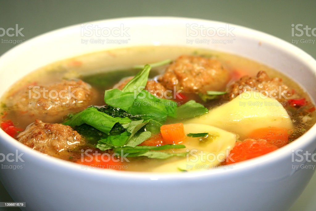 chicken soup variation stock photo