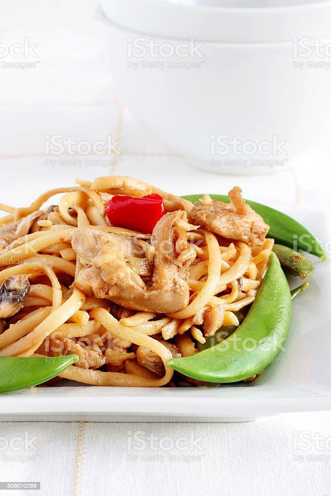 Chicken stir fry stock photo