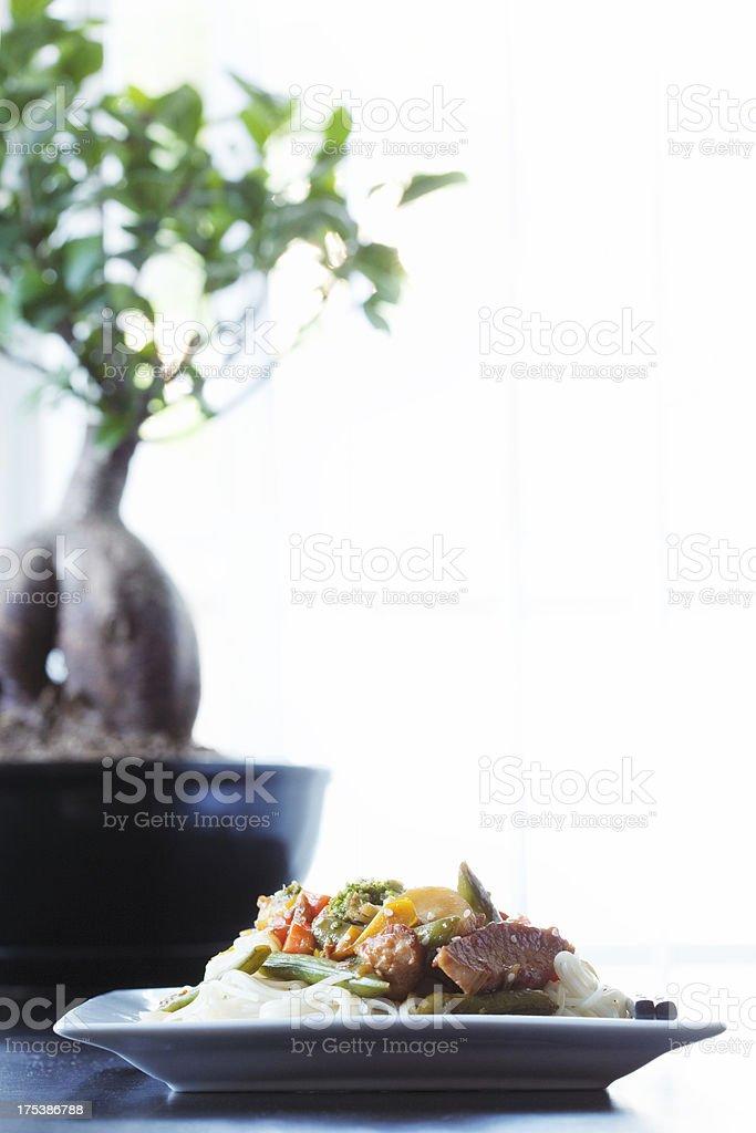 Chicken Stir-fry royalty-free stock photo