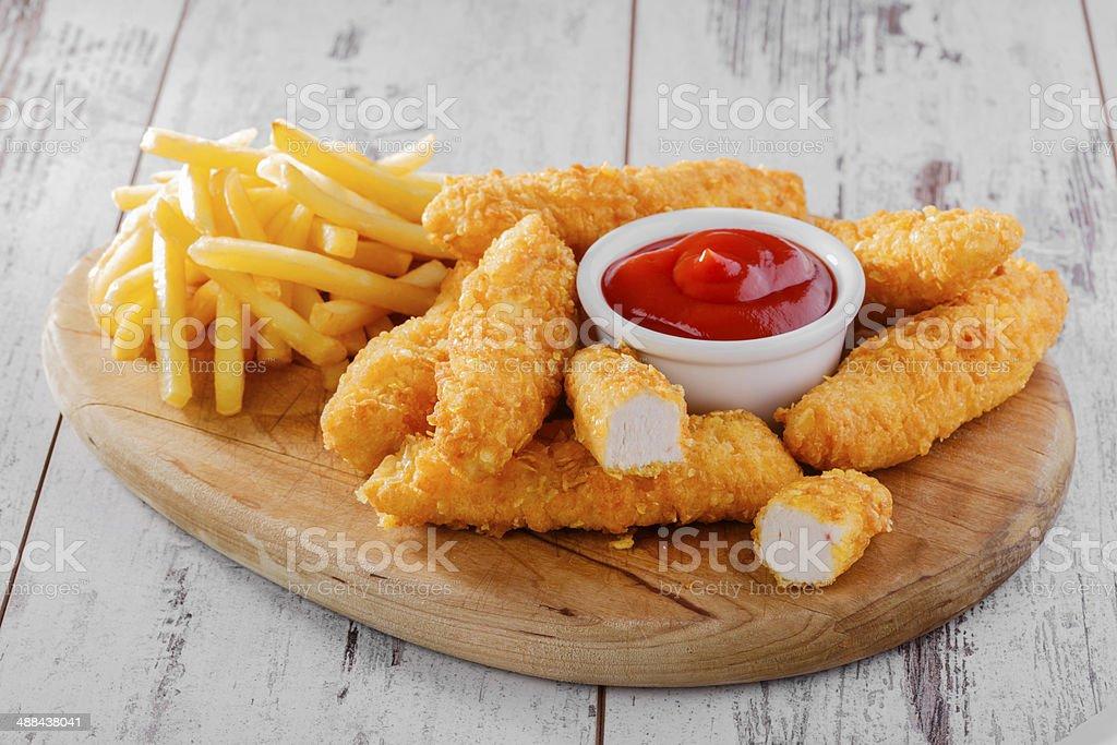 chicken stripsy? stock photo