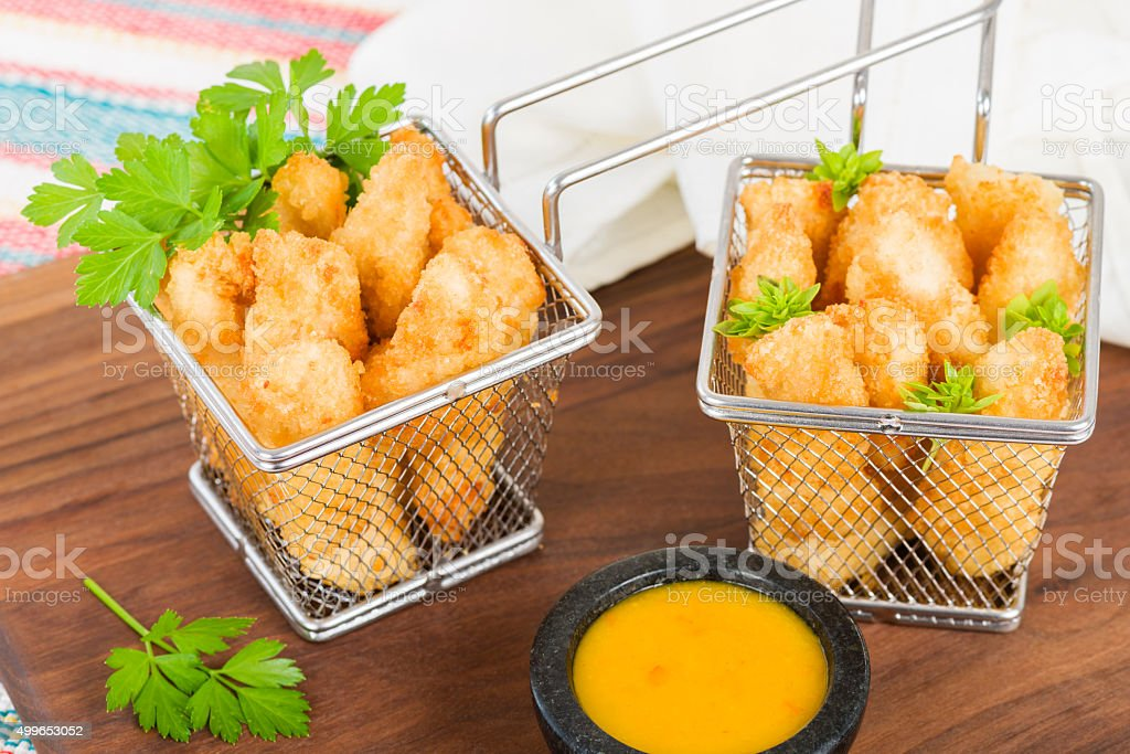 Chicken Goujons stock photo