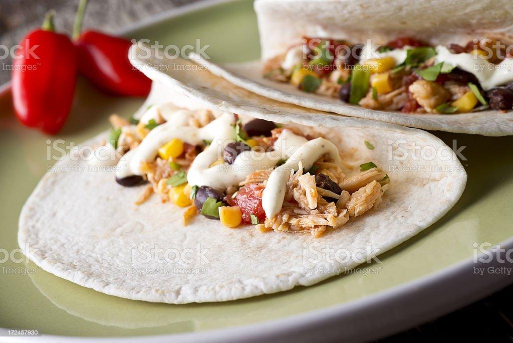 Chicken Taco stock photo