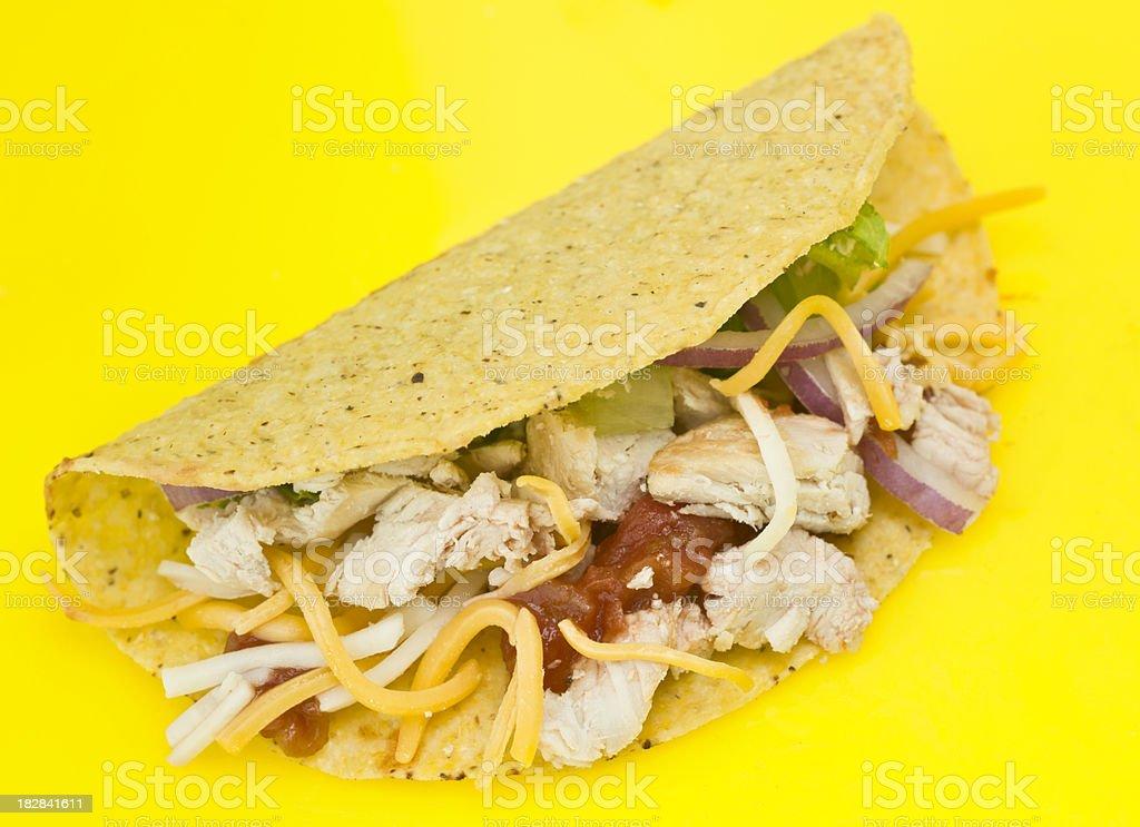 Chicken Taco royalty-free stock photo