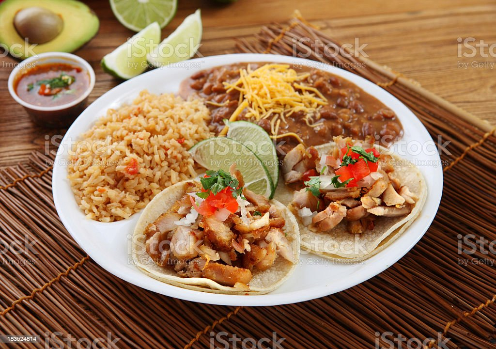 Chicken Taco stock photo