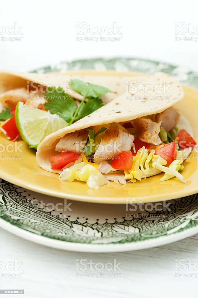 Chicken taco plate royalty-free stock photo