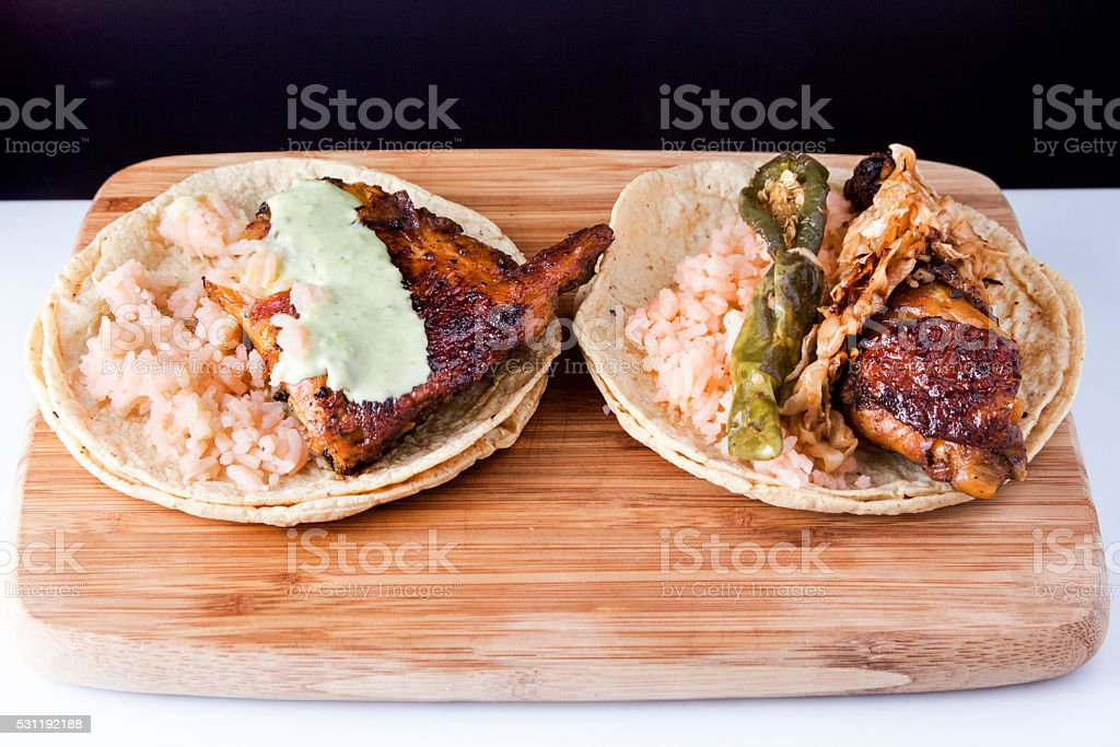 Chicken Tacos stock photo