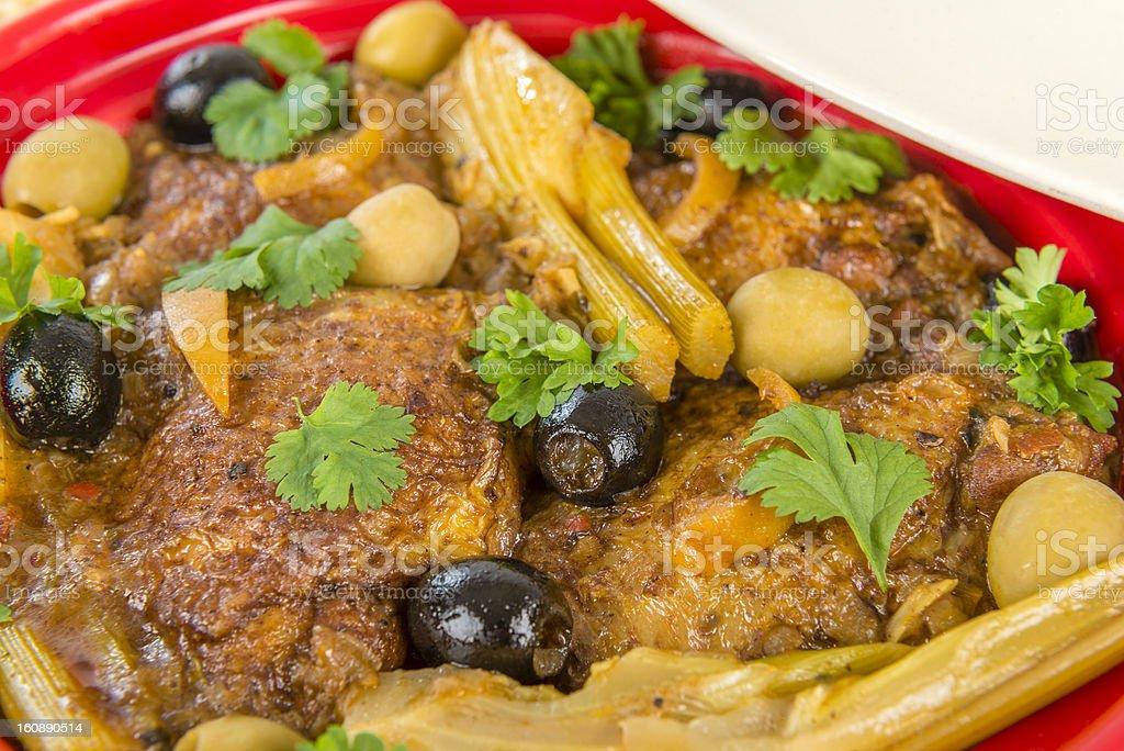 Chicken Tagine royalty-free stock photo