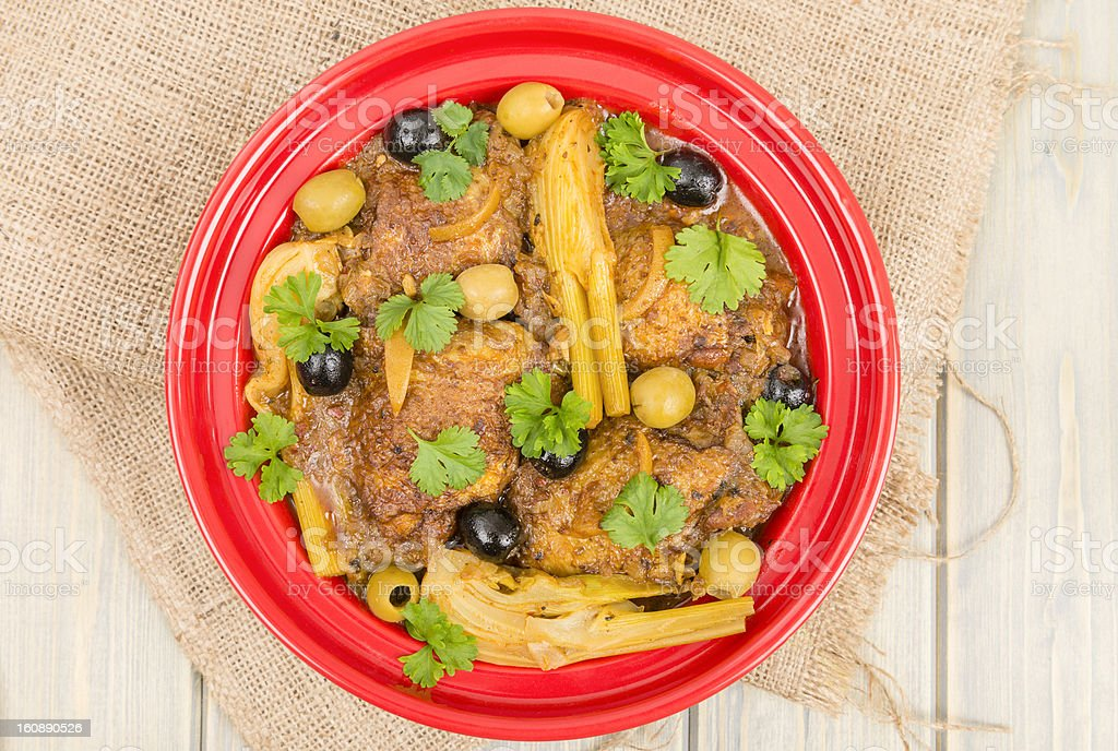 Chicken Tagine royalty-free stock photo