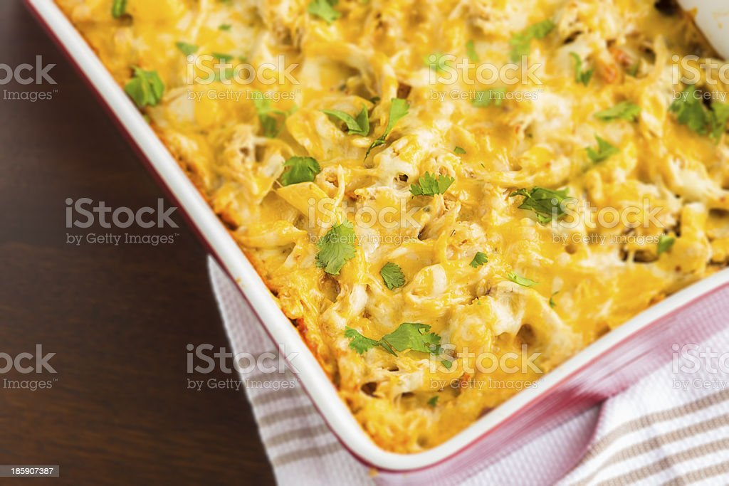 Chicken Tamale Casserole stock photo