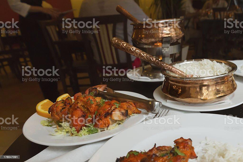 Chicken Tandoori in a restaurant stock photo