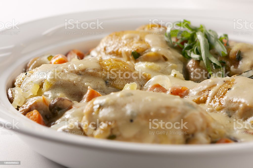 Chicken Tarragon stock photo