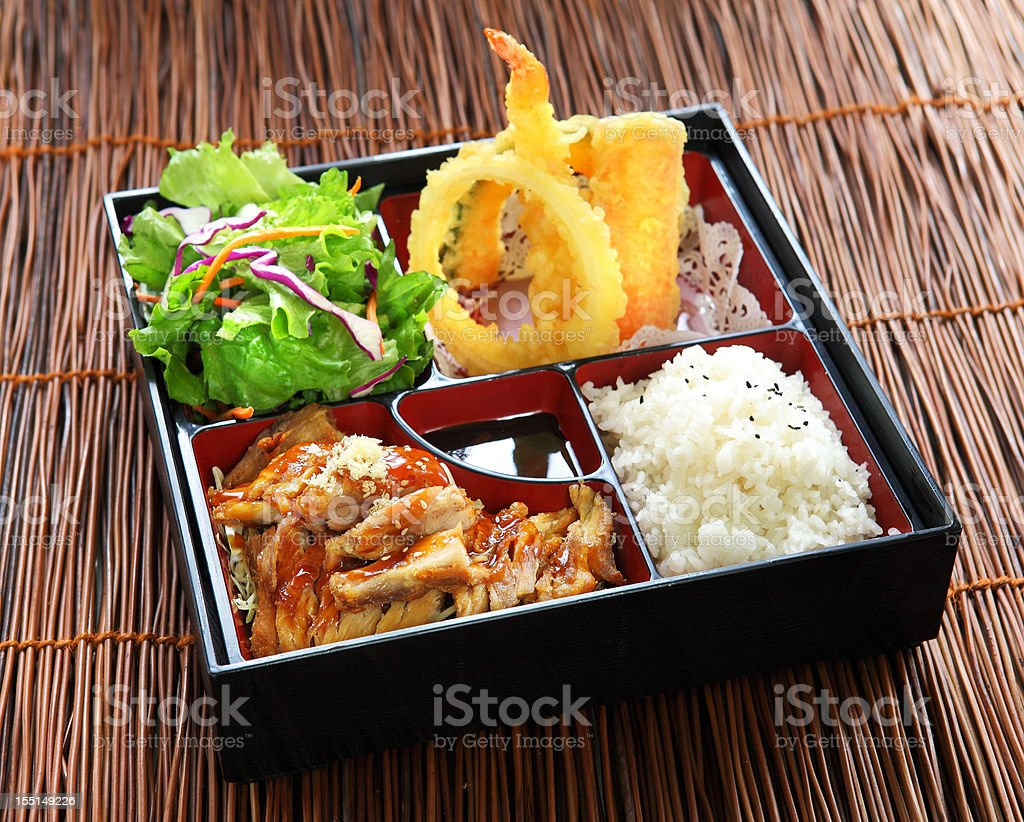 Chicken Teriyaki Bento stock photo