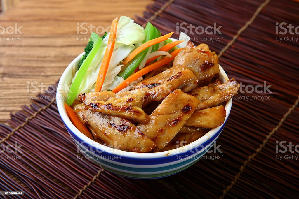 Chicken Teriyaki Bowl royalty-free stock photo
