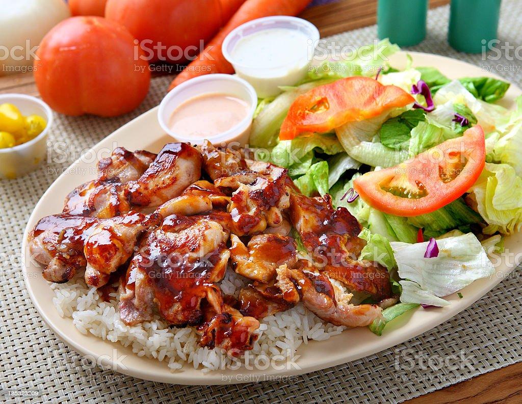 Chicken Teriyaki Combination stock photo