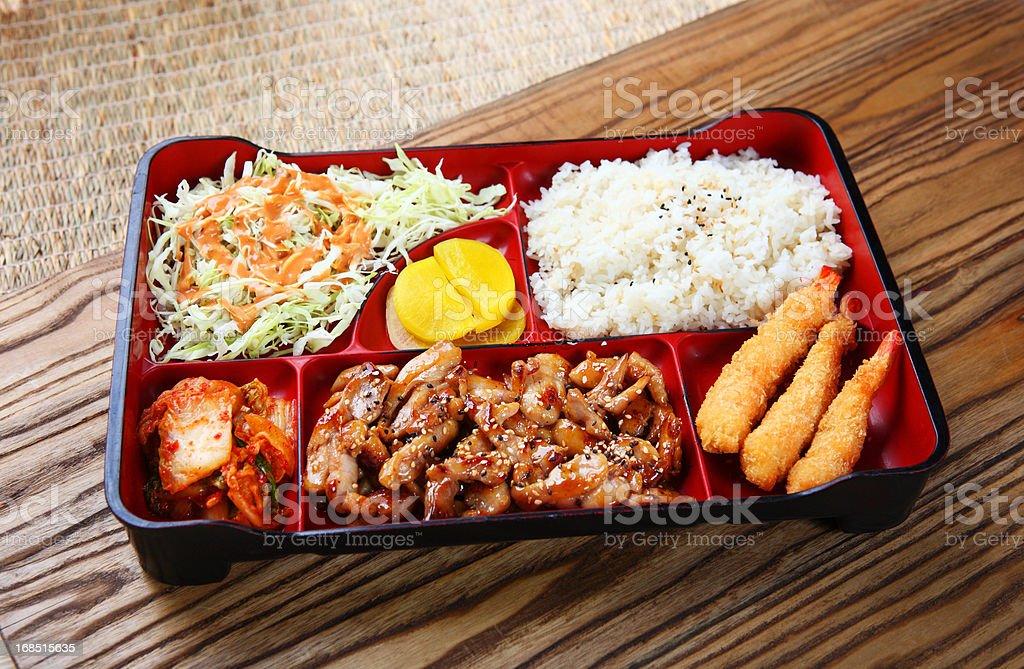 Chicken Teriyaki Lunch Box royalty-free stock photo