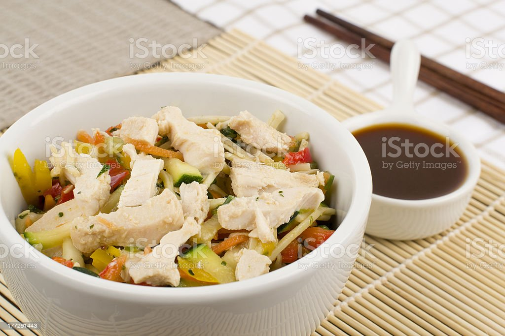 Chicken Teriyaki Noodles royalty-free stock photo