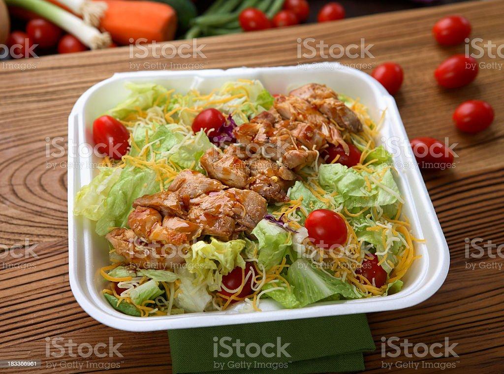 Chicken Teriyaki Salad royalty-free stock photo
