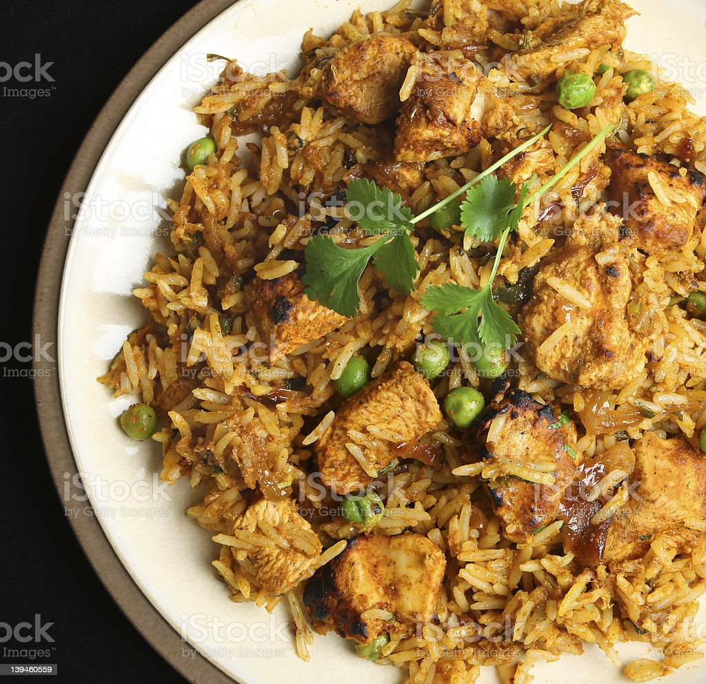 Chicken Tikka Biriyani stock photo