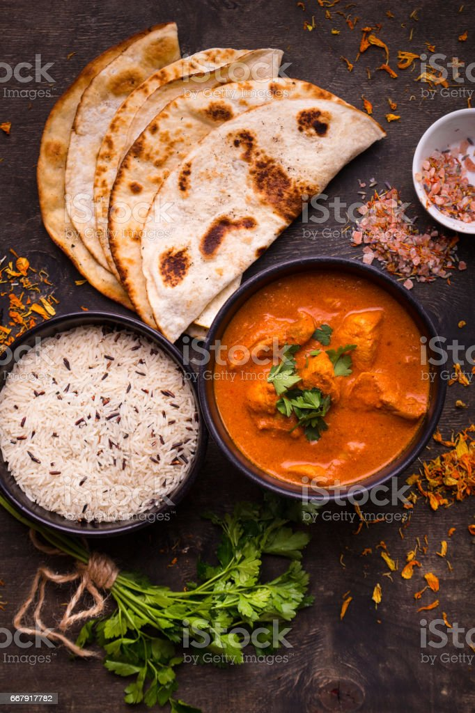 Chicken tikka masala stock photo
