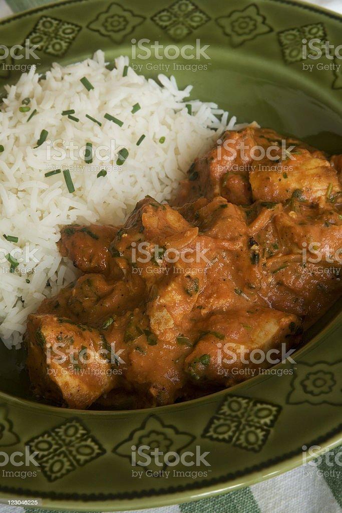 Chicken Tikka Masala with Rice stock photo