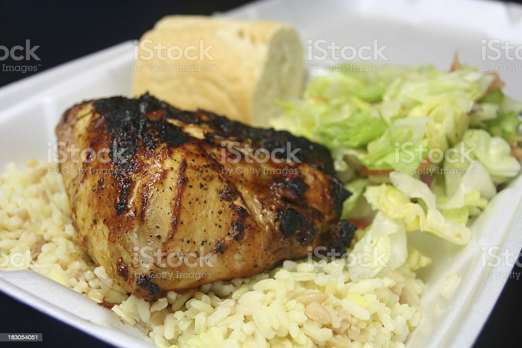 BBQ Chicken To Go royalty-free stock photo