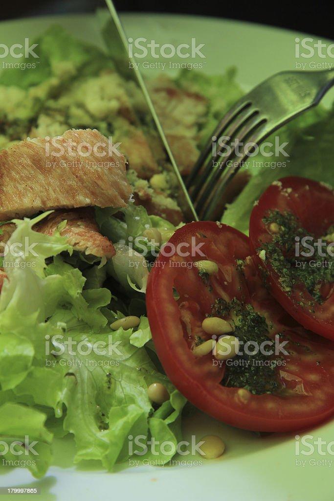 Chicken tomato salad royalty-free stock photo