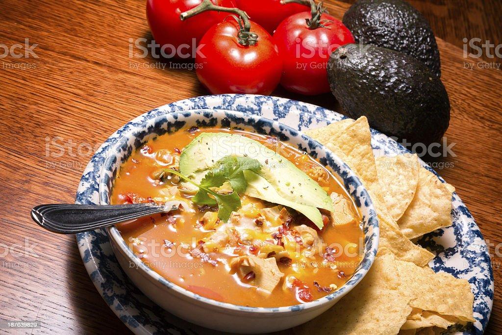 Chicken Tortilla Soup royalty-free stock photo