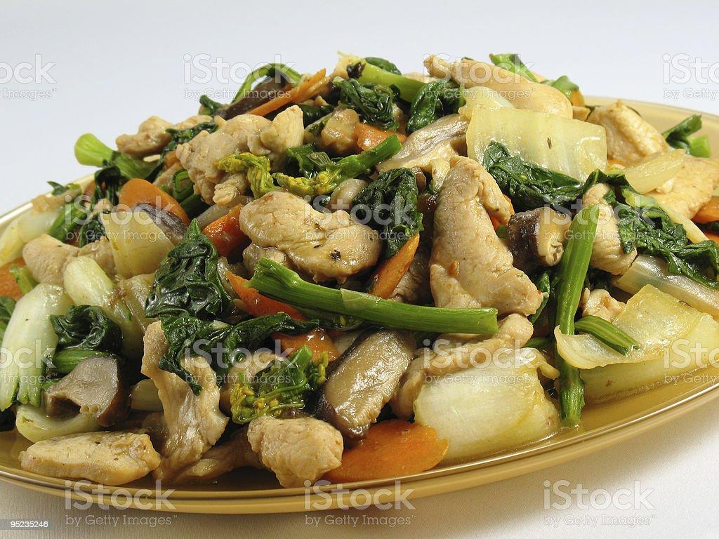 Chicken & Vegetables Stir-Fry royalty-free stock photo