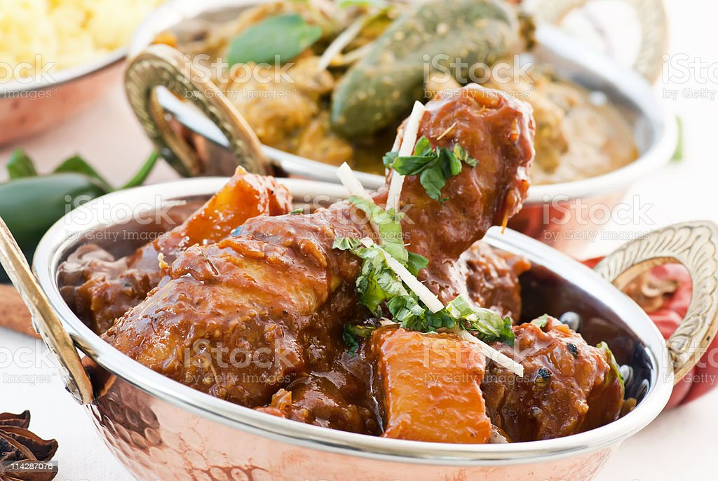 Chicken Vindaloo and Curry royalty-free stock photo
