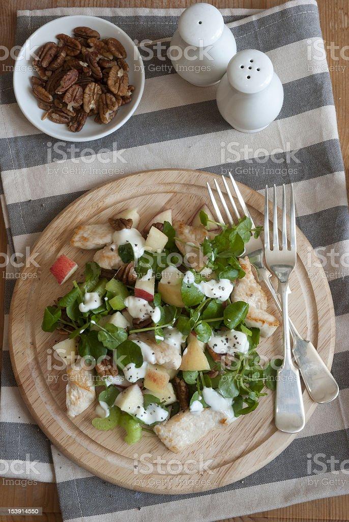 Chicken Waldorf salad stock photo