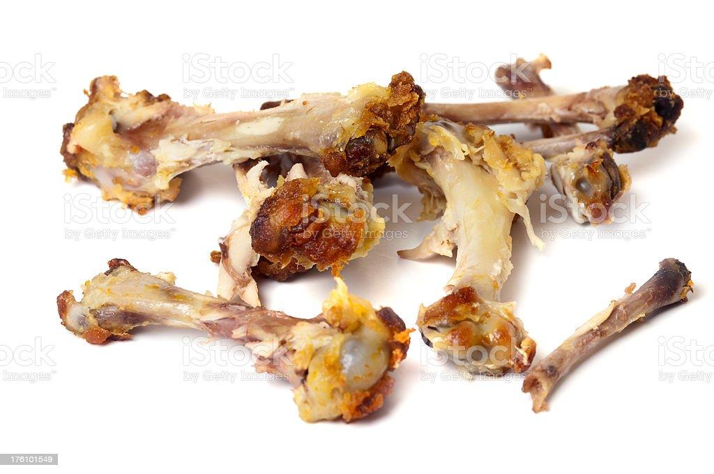 Chicken Wing Bones royalty-free stock photo