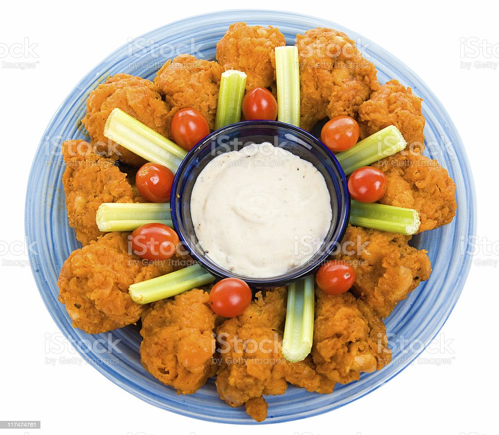 Chicken Wing Platter with Path royalty-free stock photo