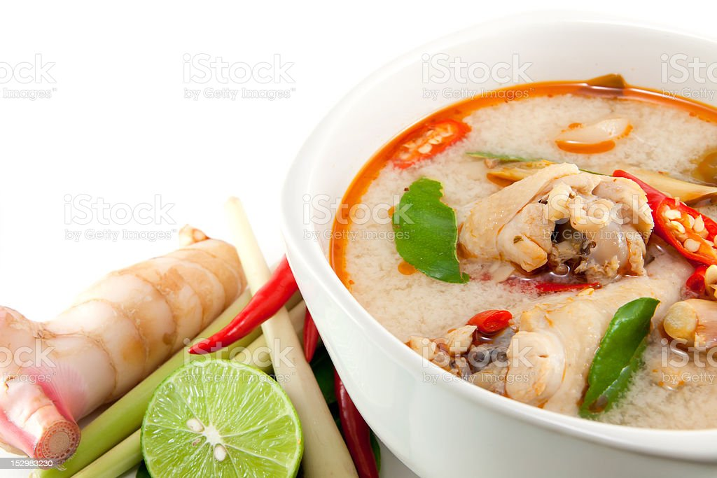 chicken wing tom yum in bowl royalty-free stock photo