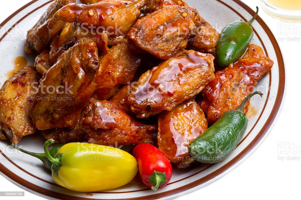 Chicken Wings and Beer royalty-free stock photo