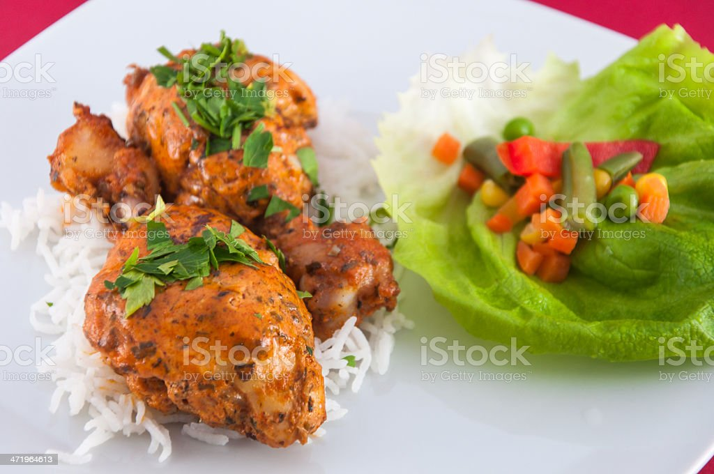 Chicken wings - Indian cuisine royalty-free stock photo