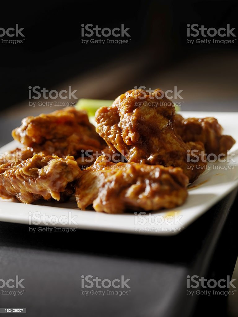 BBQ Chicken Wings royalty-free stock photo