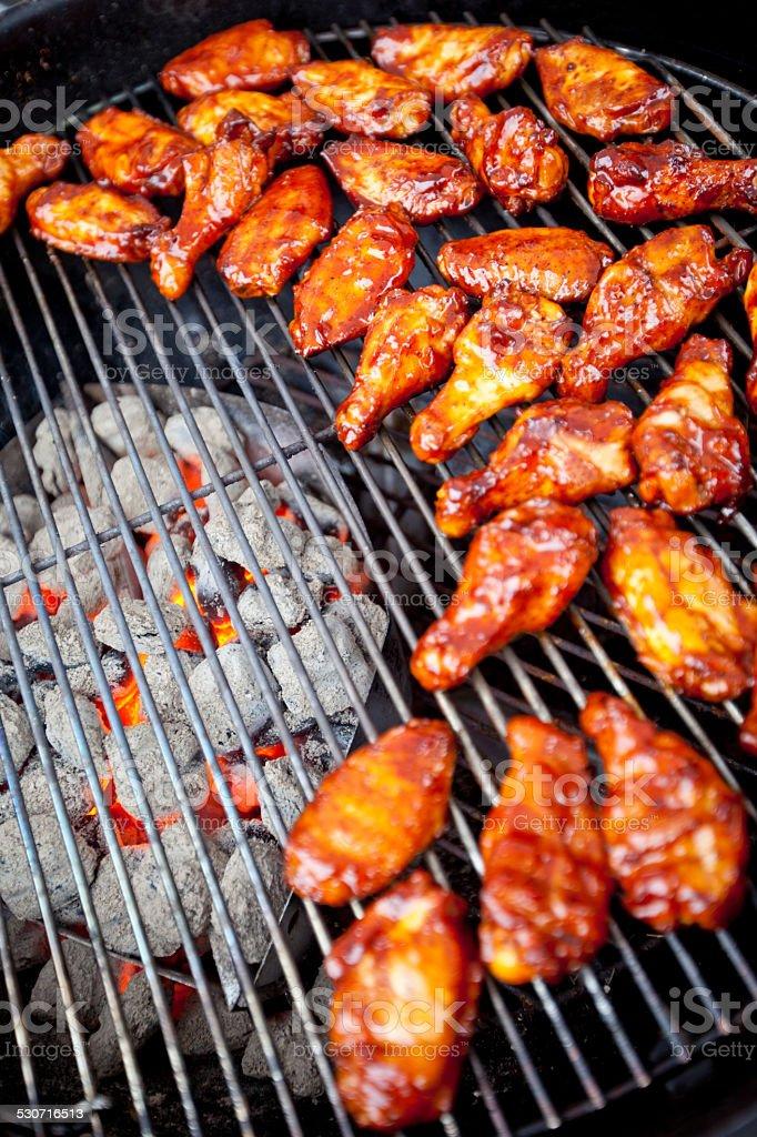 BBQ chicken wings stock photo