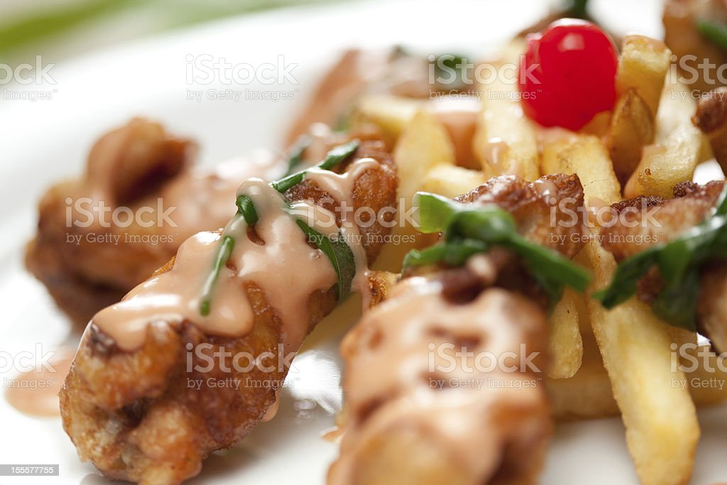 Chicken wings platter stock photo