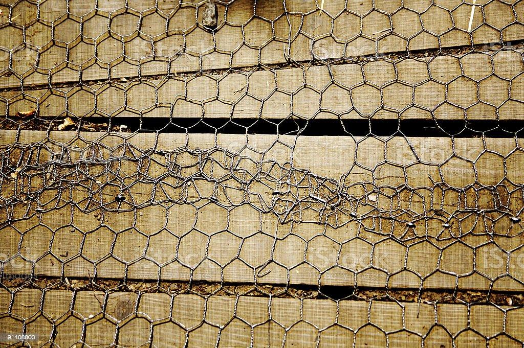 Chicken Wire Door... stock photo