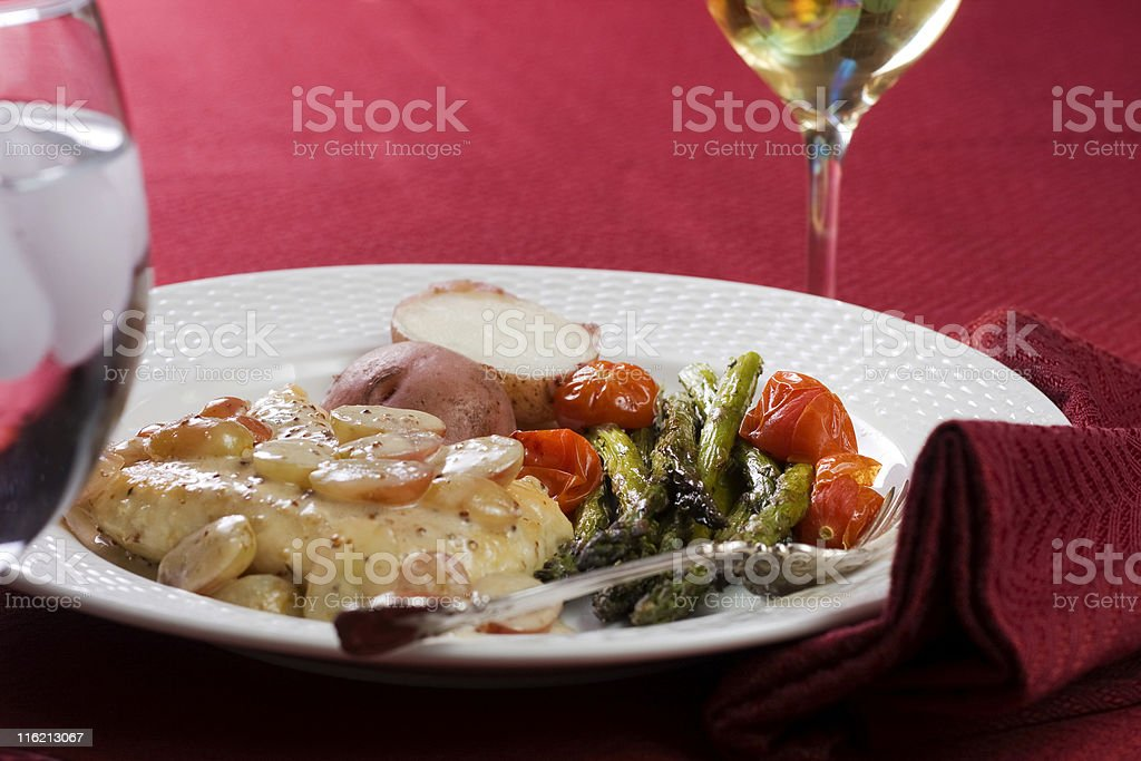 Chicken with a Cream Sauce royalty-free stock photo