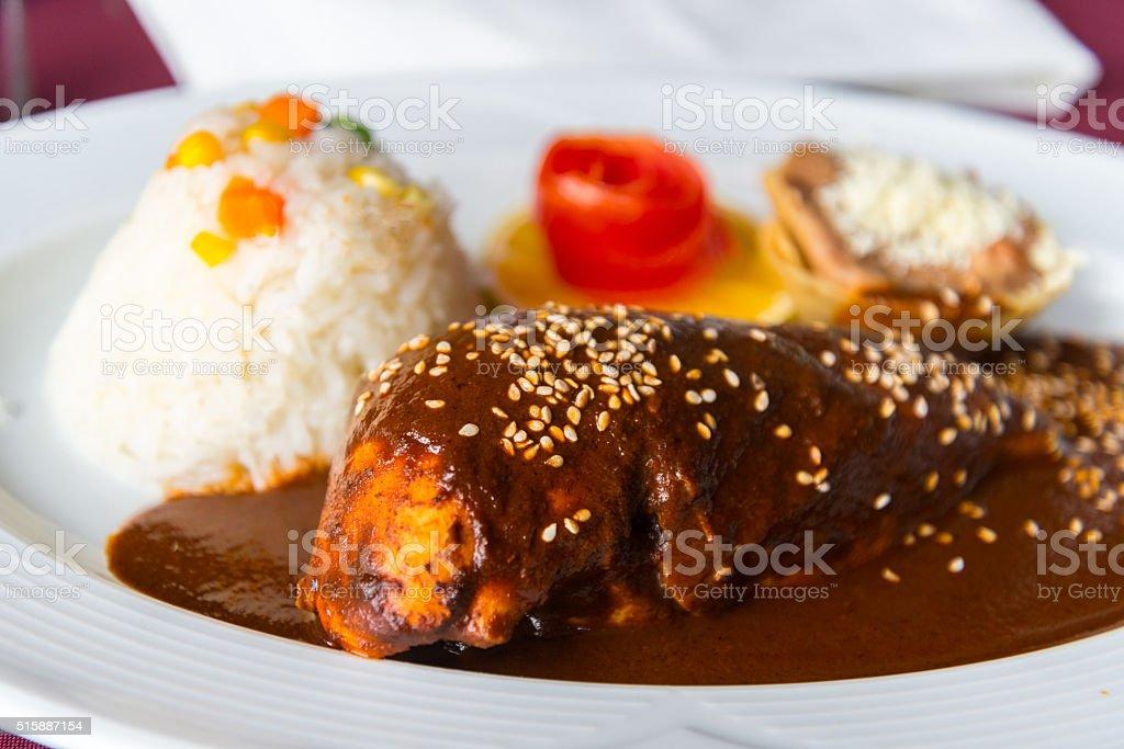 Pollo con mole stock photo