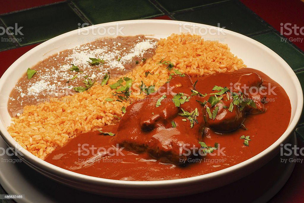 Chicken with Mole Sauce royalty-free stock photo