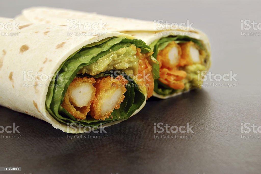 Chicken wrap sandwich stock photo