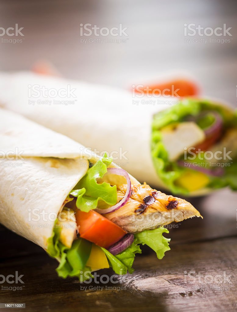 Chicken Wrap Sandwich stock photo